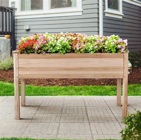Wood garden planter boxes Image