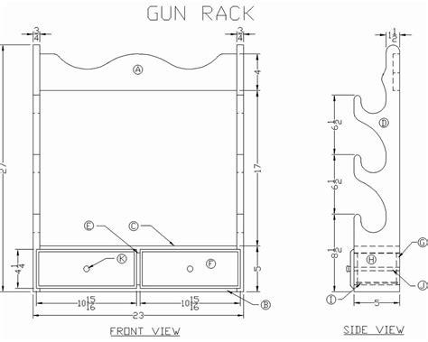 Wood Gun Rack Plans