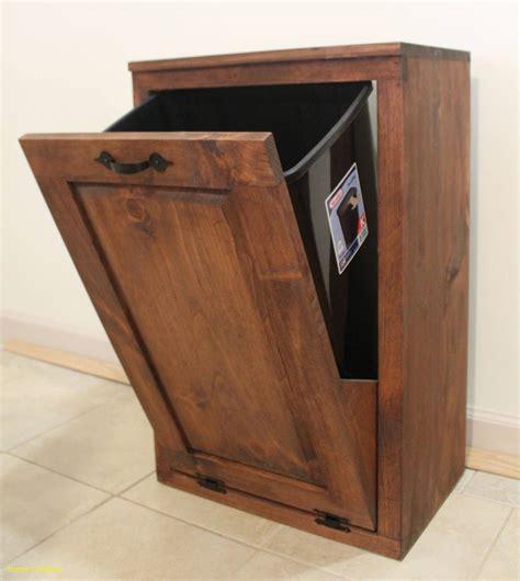 Wood kitchen garbage cabinet Image