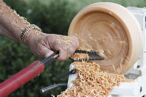 Wood lathe bowl turning Image
