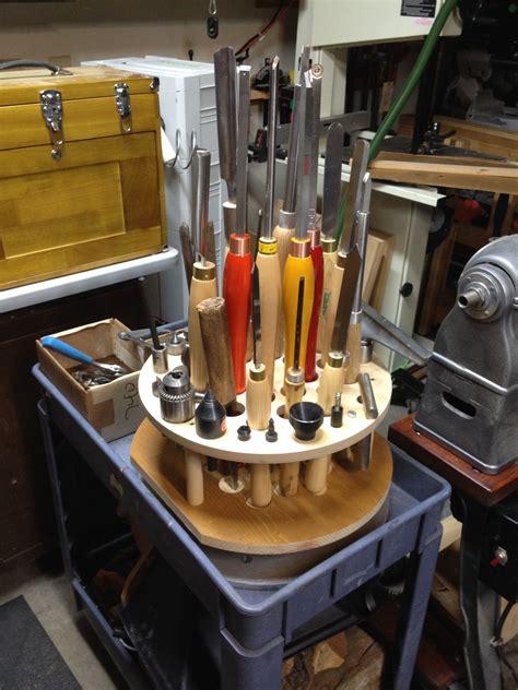 Wood lathe tool rack Image