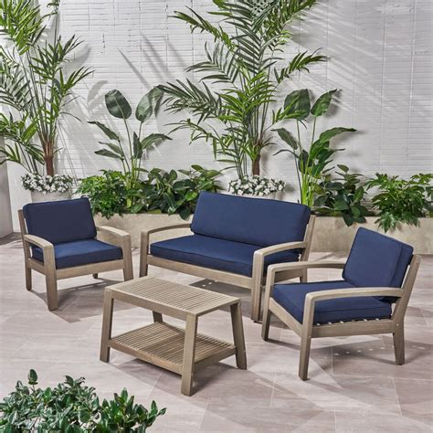 Wood outdoor patio furniture Image