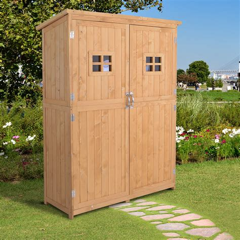 Wood outdoor storage shed Image