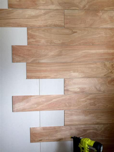 Wood plank wall diy Image