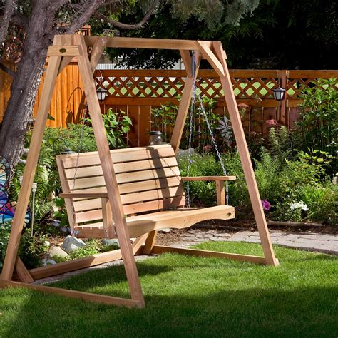 Wood porch swings canada Image