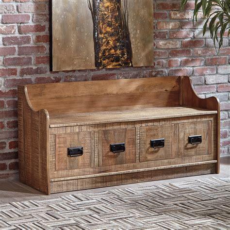 Wood storage bench Image