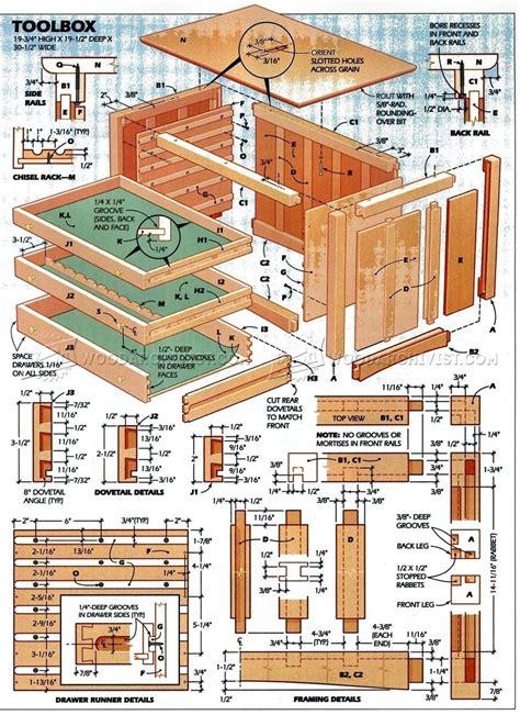 Wood toolbox plans Image