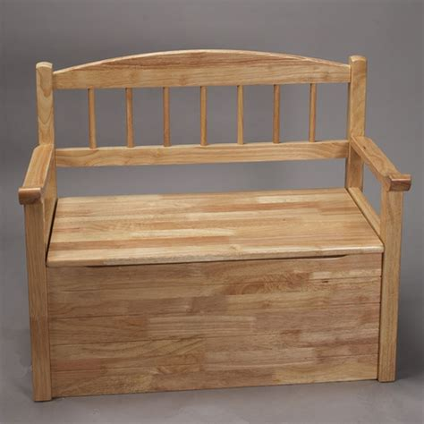 Wood toy chest with bench seat Image