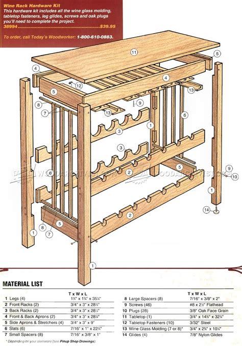 Wood wine rack cabinet plans Image