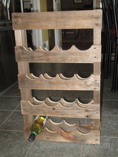 Wood wine rack diy Image