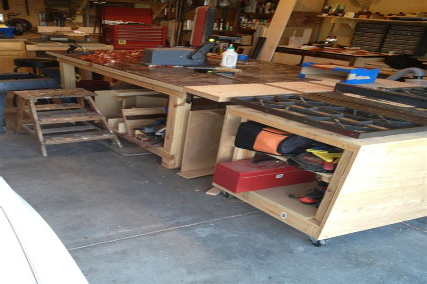Wood work bench ideas Image