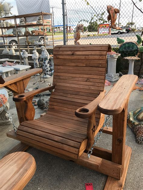 Wood yard furniture Image
