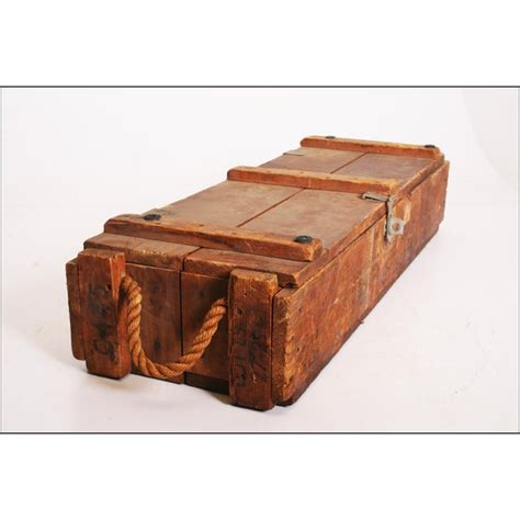 Wooden Ammo Box With Rope Handles