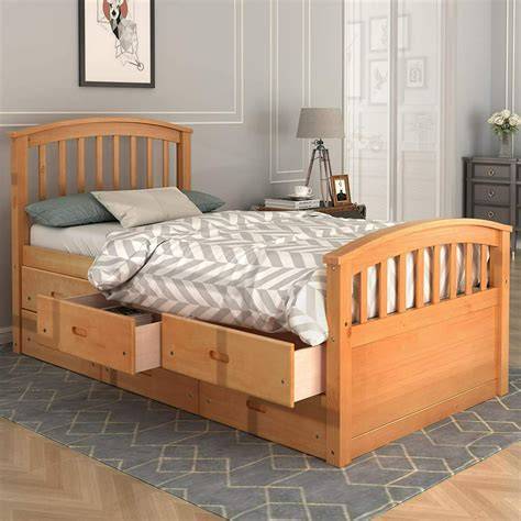 wooden bed with storage.aspx Image
