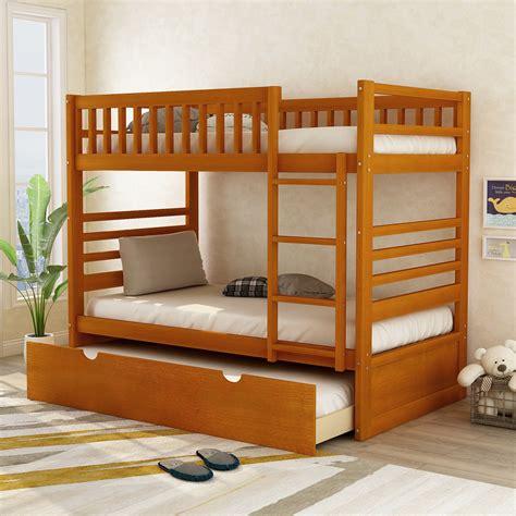 wooden bunkbeds Image