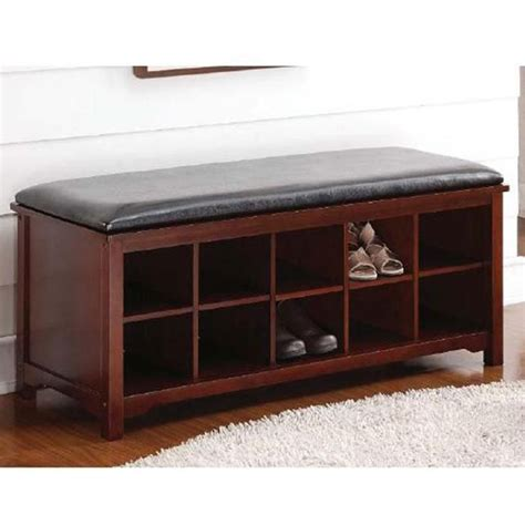 wooden entryway bench.aspx Image