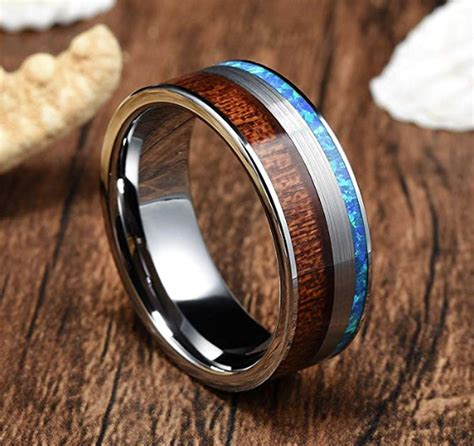wooden mens wedding band.aspx Image