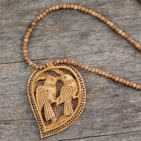 wooden pendant necklace.aspx Image
