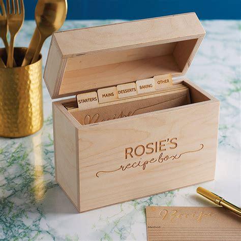 wooden recipe box Image