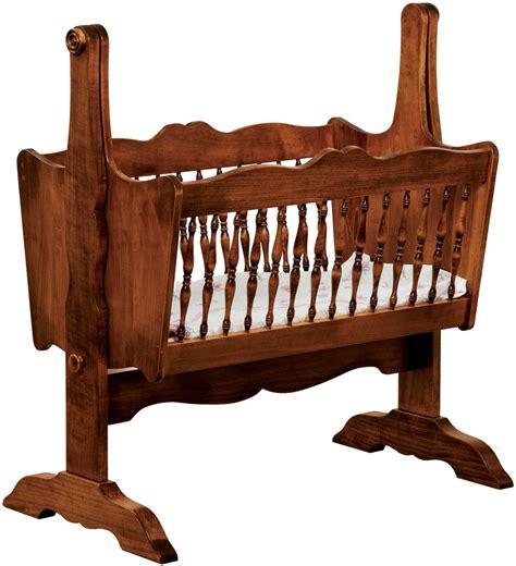 Wooden baby cradle Image