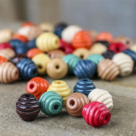 Wooden beading supplies Image