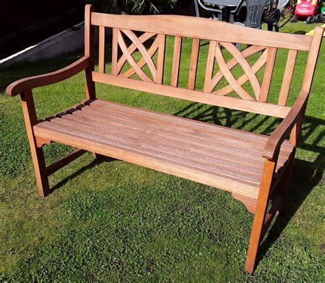 Wooden bench homebase Image