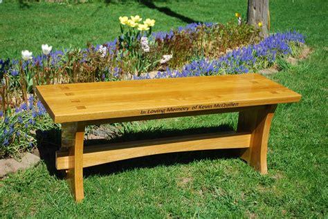Wooden bench memorial Image