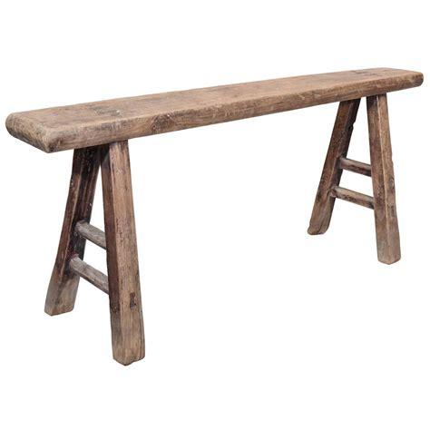 Wooden bench narrow Image
