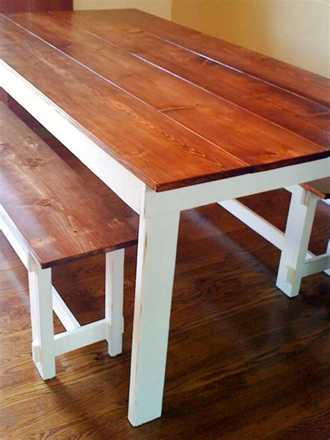 Wooden bench plans for kitchen table Image
