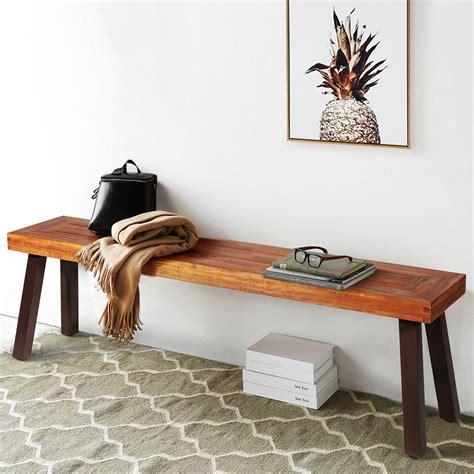 Wooden bench restaurant Image