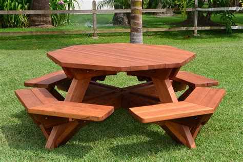 Wooden bench to picnic table Image