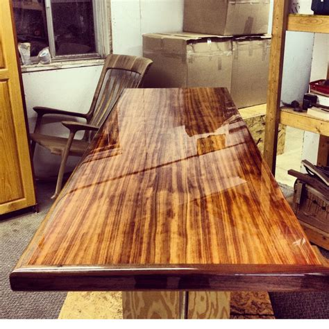 Wooden bench top finishes Image