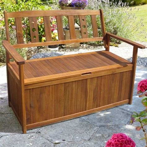 Wooden bench with storage plans Image