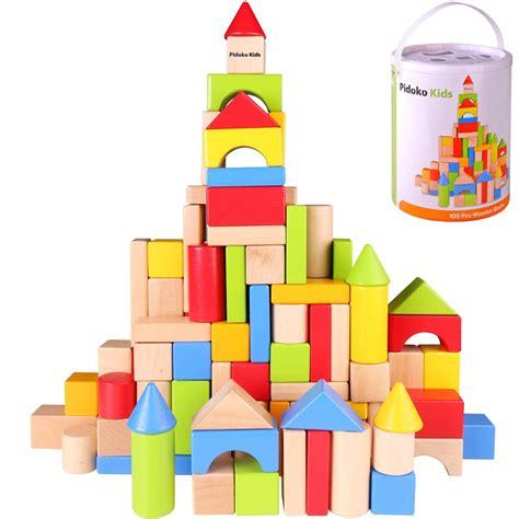 Wooden building blocks for kids Image