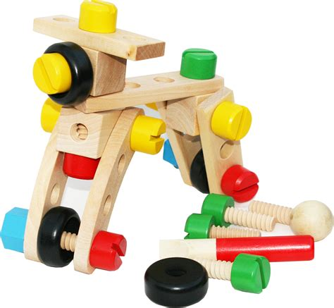 Wooden building toys uk Image