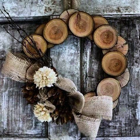 Wooden christmas wreaths Image