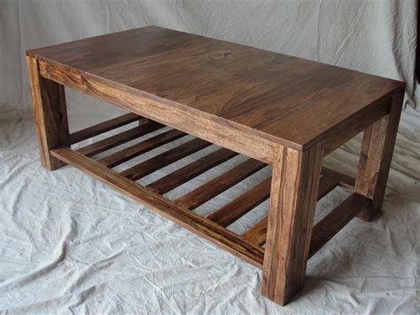 Wooden coffee table plans Image