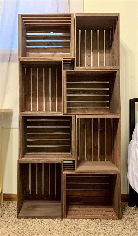Wooden crate bookshelf Image