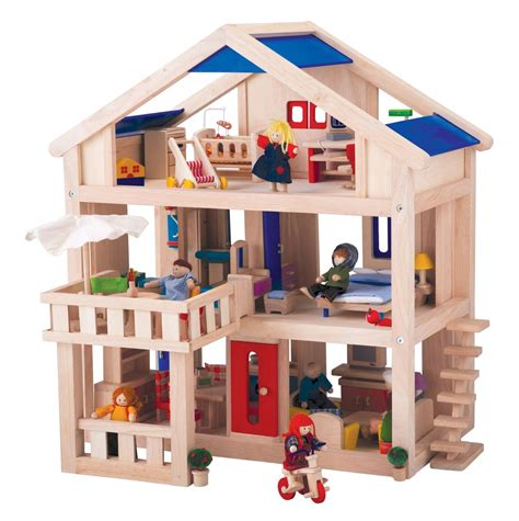 Wooden dollhouse plan toys Image