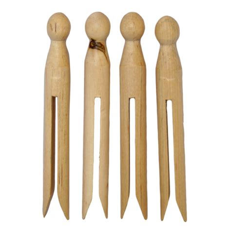 Wooden dolly pegs wholesale Image