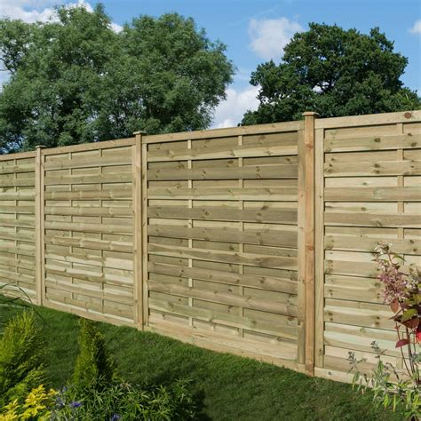 Wooden fence panels Image