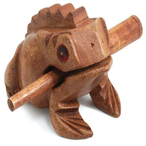 Wooden frog instrument Image