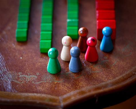 Wooden game pieces Image