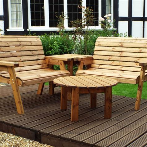 Wooden garden bench sets Image