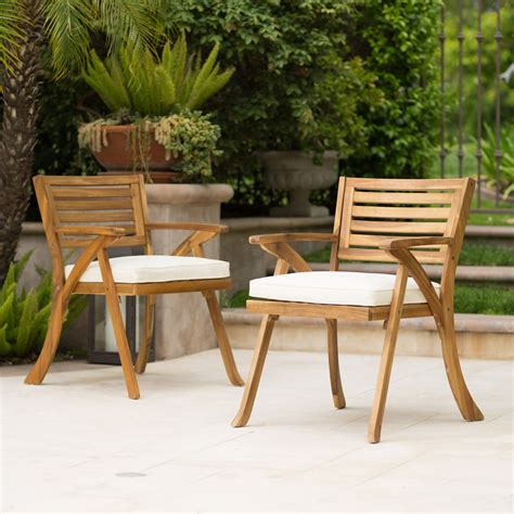 Wooden garden chairs Image