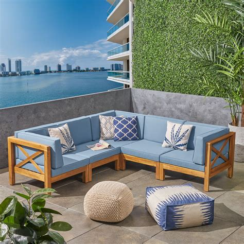 Wooden garden sofa set Image