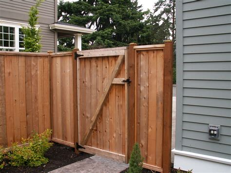 Wooden gate construction Image