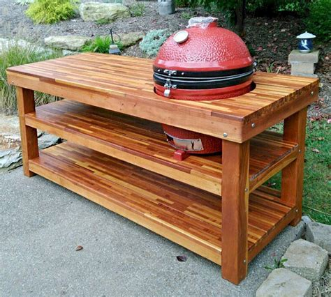 Wooden grill table Image