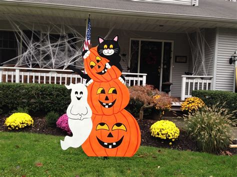 Wooden halloween yard decorations Image