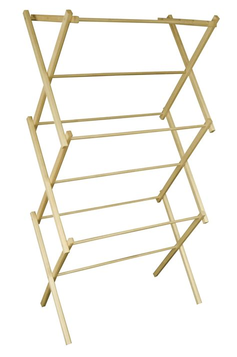Wooden Hanging Clothes Drying Rack